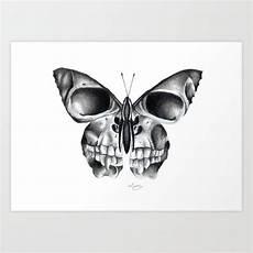 Butterfly Skull Print By Erzaguri Society6