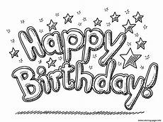 Ausmalbilder Geburtstag Schwester Happy Birthday Celebration Text And Coloring Pages