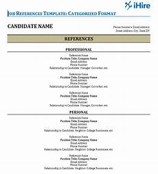 job references template reference page ihire