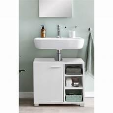 wohnling waschbeckenunterschrank wl5 341 60x55x32cm weiss
