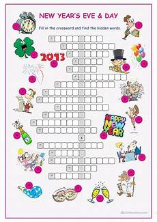 new year esl worksheets 19324 new year s day crossword puzzle worksheet free esl printable worksheets made by teachers
