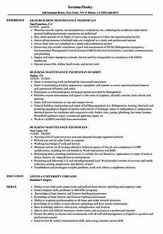 resume sle building maintenance maintenance resume