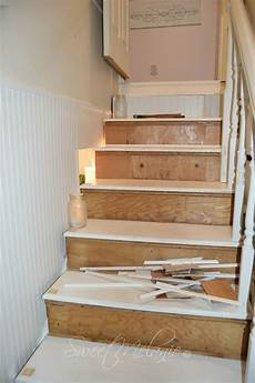 Sweet Melanie Fixing The Stairwell Into Shabby Chic Stairs