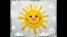 Basteln Mit Kindern Sommer Fenster - lustige bierdeckel sonne basteln mit kindern