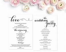 wedding program template wedding programs ceremony program wedding ceremony editable