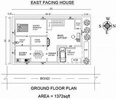 vastu house plans east facing house east facing house plan as per vastu shastra cadbull