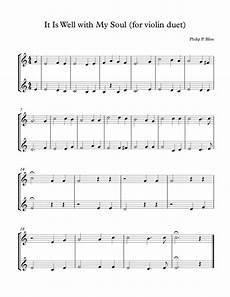 it is well with my soul for violin solo or duet sheet