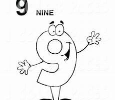 Number Nine Coloring Nine Coloring Page At Getcolorings Free Printable