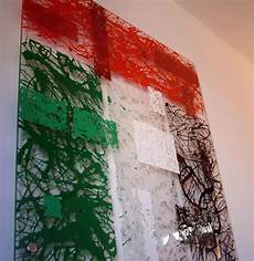 acrylic drip art painting pollock styled in uae flag colours