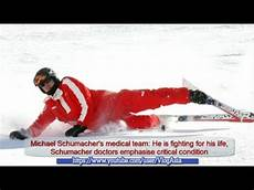 michael schumacher unfall michael schumacher critical and coma after injuries