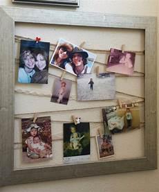 bilderrahmen mit wäscheklammern upcycle de krempel alte bilderrahmen collage einrahmen