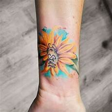 top 57 best small sunflower tattoo ideas 2020
