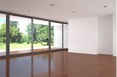 Leeres Zimmer Modern - leeres wohnzimmer mit parkettfu 223 boden stock abbildung