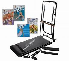 supreme pilates supreme pilates total trainer with 3 dvds fold away