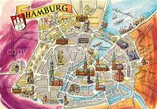 Hamburg Sehenswürdigkeiten Karte - hamburg karte sehensw 252 rdigkeiten kleve landkarte
