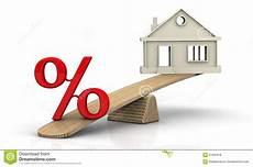 haus verkaufen mit hypothek zinsen auf die hypothek konzept stock abbildung bild