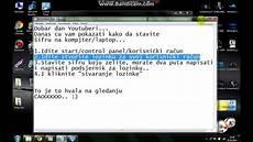 kako staviti lozinku na kompjuter laptop windows 7 youtube