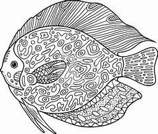 Ausmalbilder Erwachsene Fische Malvorlagen Mandala Fische Kinder Ausmalbilder