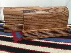 2 wooden spur display blocks