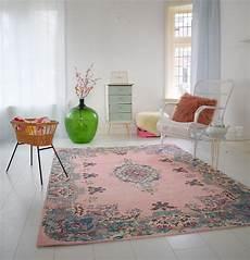 pastell vintage teppich im angesagten shabby chic look