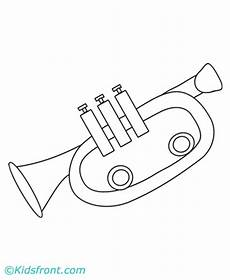 trumpet coloring pages printable
