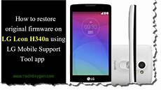lg mobile support tools recover lg 4g lte h340n with lg mobile support tool