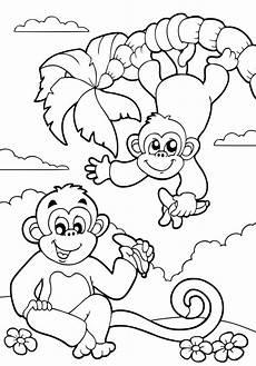 Malvorlagen Tiere Affen Ausmalbilder Dschungel Ausmalbilder