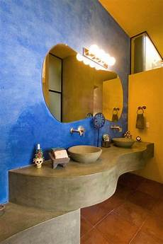 blue and yellow bathroom ideas how to decorate your bathroom in mexican style