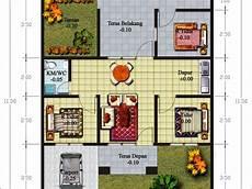 57 Contoh Desain Denah Rumah Minimalis Type 36 3 Kamar
