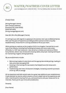 waiter waitress cover letter sle free download resume genius