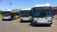 station total a13 brand new articulated buses started to arrive
