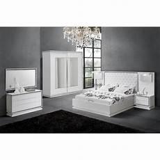 chambre meuble blanc chambre compl 232 te design coloris blanc laqu 233 avec strass