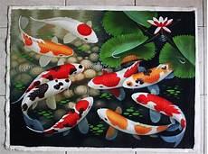 Jual Lukisan Ikan Koi S229 Di Lapak Danisa Lukisanindo