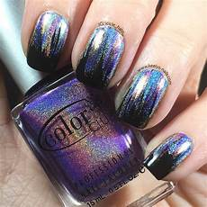 glitch holographic waterfall nail art keely s nails