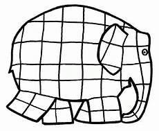 kleurplaat elmer met afbeeldingen olifant template