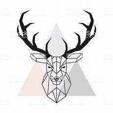 cerf dessin facile vector geometric deer stag and antlers low poly