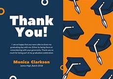 thank you cards template graduation customize 39 graduation thank you card templates