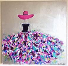 modele de tableau moderne tableau femme tableau moderne femme robe coloree
