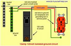 grounded wiring diagram wiring diagram for a 15 isolated ground circuit cave office circuits and