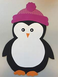 Bastelvorlage Pinguin Papier - fensterdeko pinguin freebie klassenkunst kunst