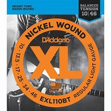 D Addario Exl110bt Balanced Tension Regular Light Xl Exl110bt