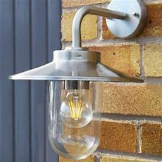 stellus modena stainless steel outdoor wall light platts horticulture