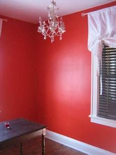 wand rot streichen my small home office painted a bright color
