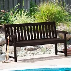 Weather Resistant Outdoor Wood 5 Ft Garden Bench In