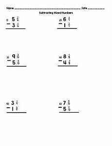 subtraction of mixed numbers with regrouping worksheets 10695 subtracting mixed numbers with regrouping by danielle mottola tpt