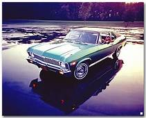 Chevrolet Nova 1969 Coupe Art Poster ChevyMall