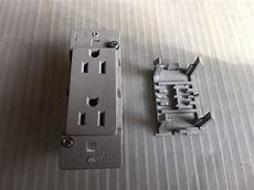 15 110 volt outlet 15 125 volt quick connect dual outlet receptacle grey gray cer trailer rv ebay