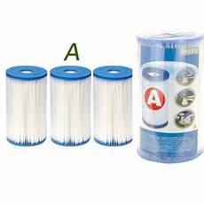 3 Cartouches De Filtration Intex Pour Filtre Piscine