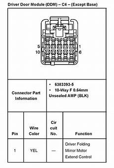 03 Silverado Mirror Wiring Diagram by What Are All 5 Wires For In A Power Mirror On A 2000 2500