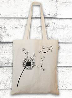 jutebeutel mit pusteblume bag with a flower by